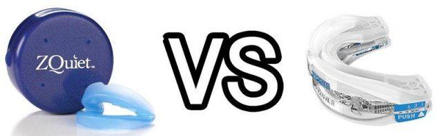 ZQuiet vs SnoreRx Snoring Mouthpieces Compared