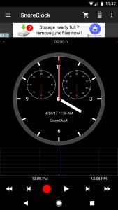 snoreclock android app screenshot