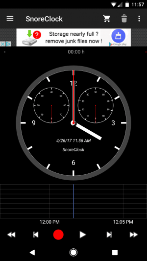 snoreclock android app screenshot