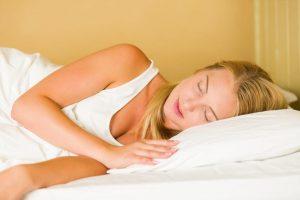 woman sleeping sleep center