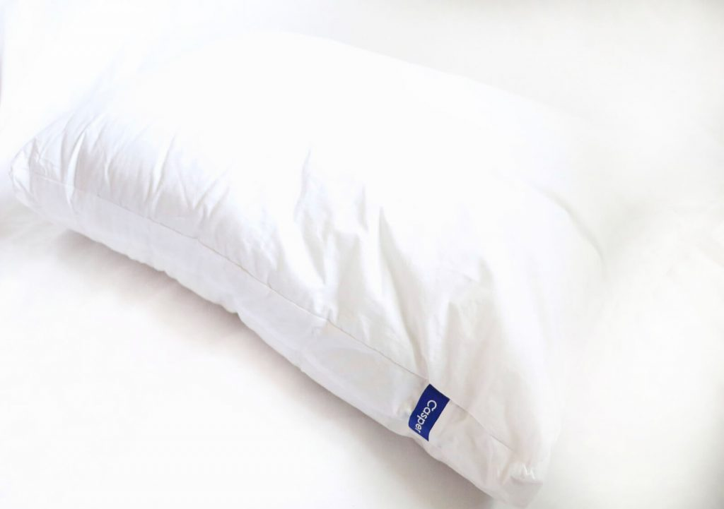 casper pillow with logo