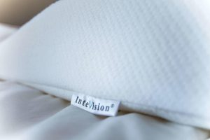intevision logo on pillow