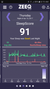 zeeq app sleep score