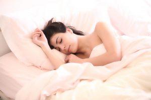 woman sleeping comfortably