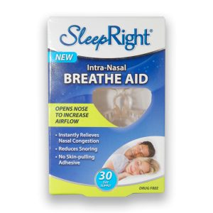 sleepright intra nasal snoring aid box