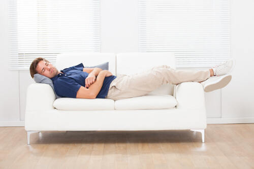sleep position on couch