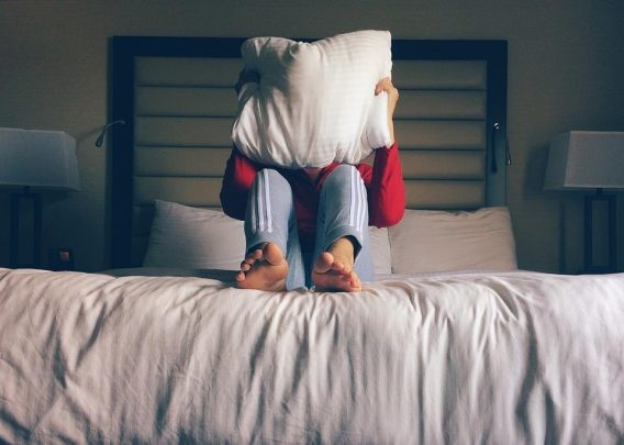 Person, Bed, Hotel, Pillow