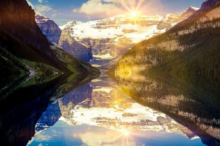 bright sunlight landscape