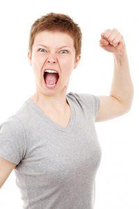 woman angry at snoring