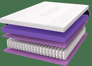 purple mattress has 5 layers