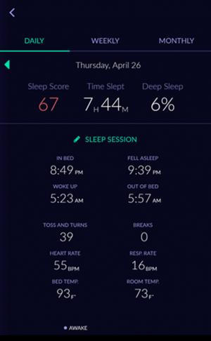 sleep tracker sleep score app