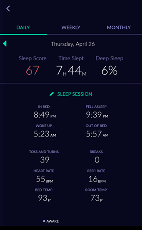 sleep tracker sleep score app