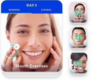 lady doing mouth exercises for snoring