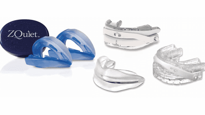 several different snoring mouthpieces
