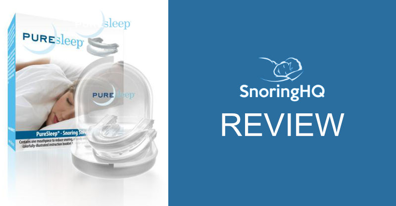 snoringhq review of the puresleep mouthpiece